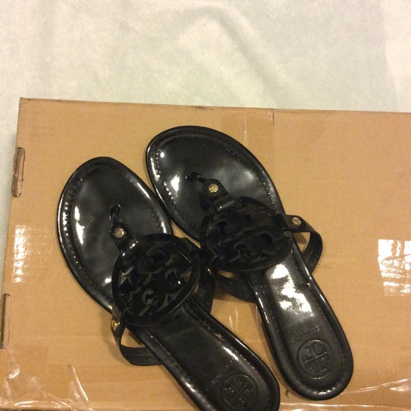 5f1d8efa66a3a8 Black Tory Burch sandals. M 5bb6ad60df0307eef0896aca